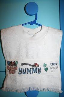 cross stitch bib