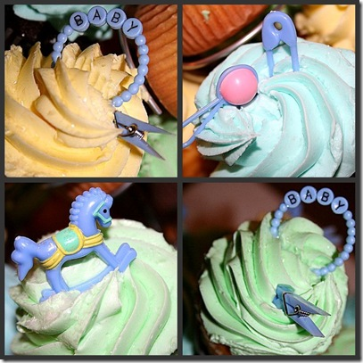 baby shower cupcake collage