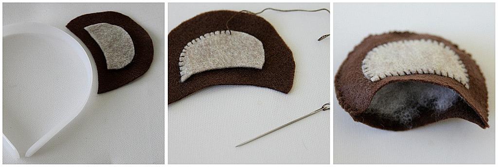Handmade Teddy Bear Ear Headband Tonya Staab