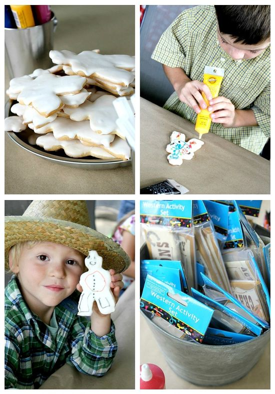 Cowboy cookie decorating