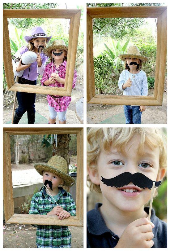 Mustache photo station
