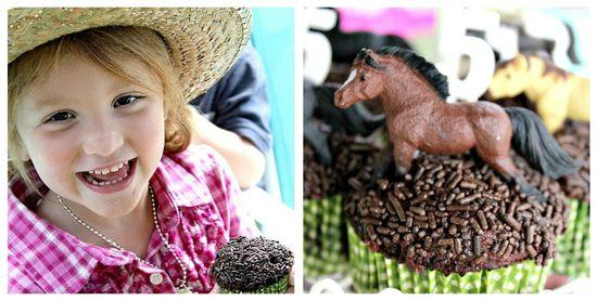 A cowgirl cupcake