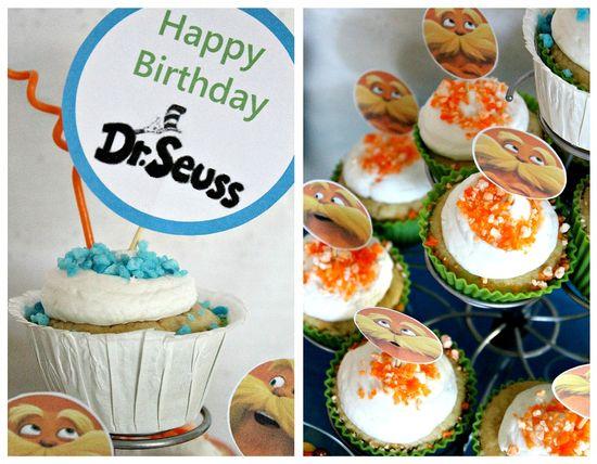 Dr Seuss Lorax cupcakes