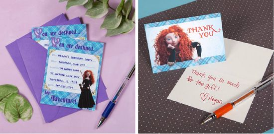 BRAVE party stationery