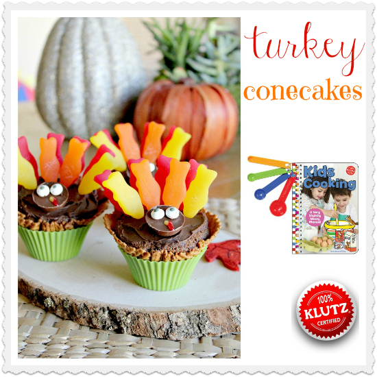 Turkey Conecakes for Thanksgiving