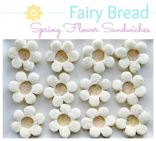 Spring flower fairy bread