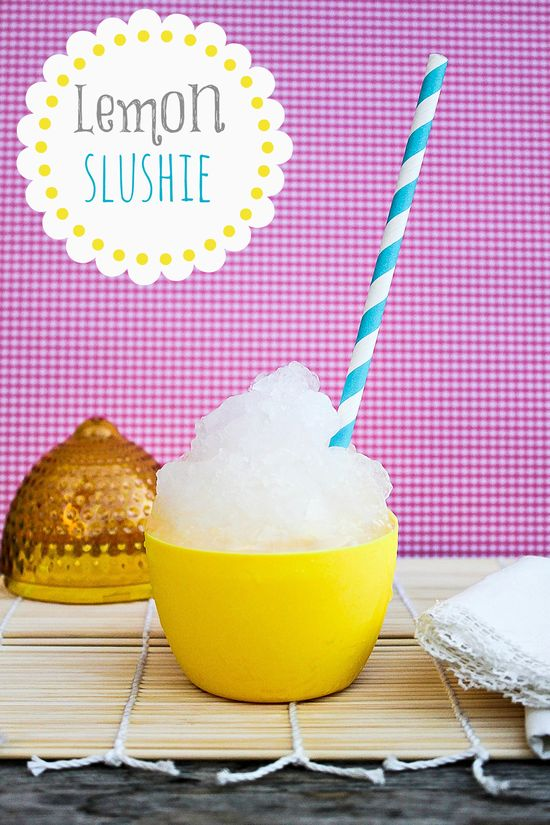 summer treat: a lemon slushie recipe