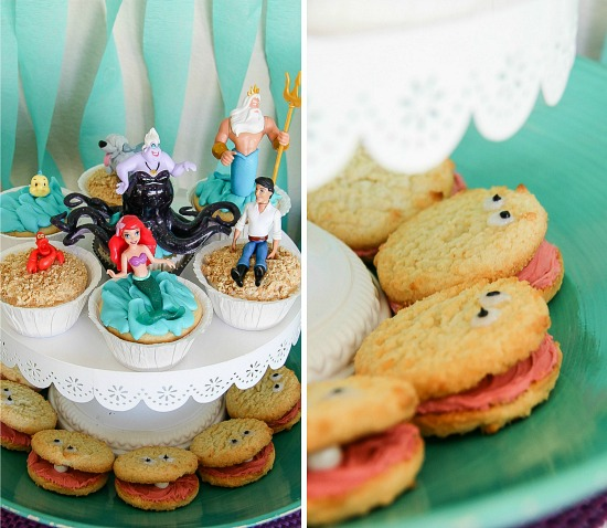 Ariel cupcakes and cookie clams