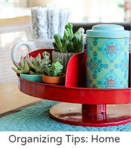 Organizing tips home