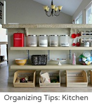 Organizing tips kitchen