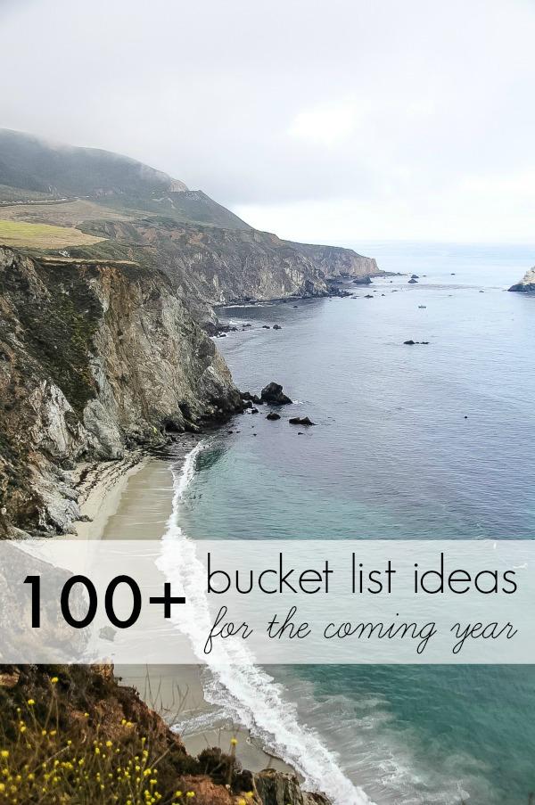 100+ bucket list ideas