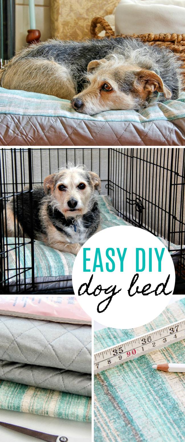Easy diy dog bed tutorial for $20