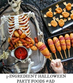 3 ingredient halloween party foods